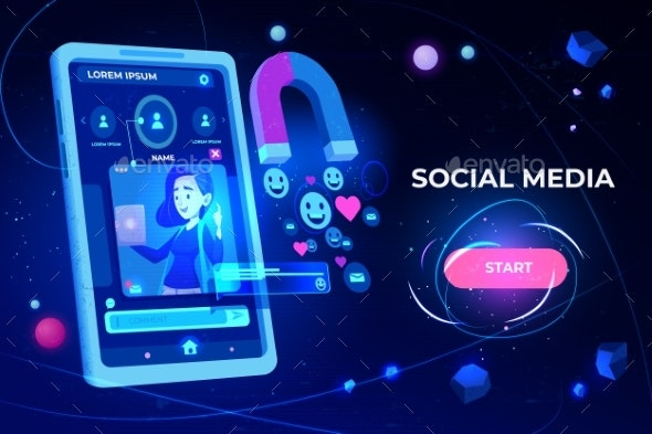 Social Media Web Banner - Media Technology