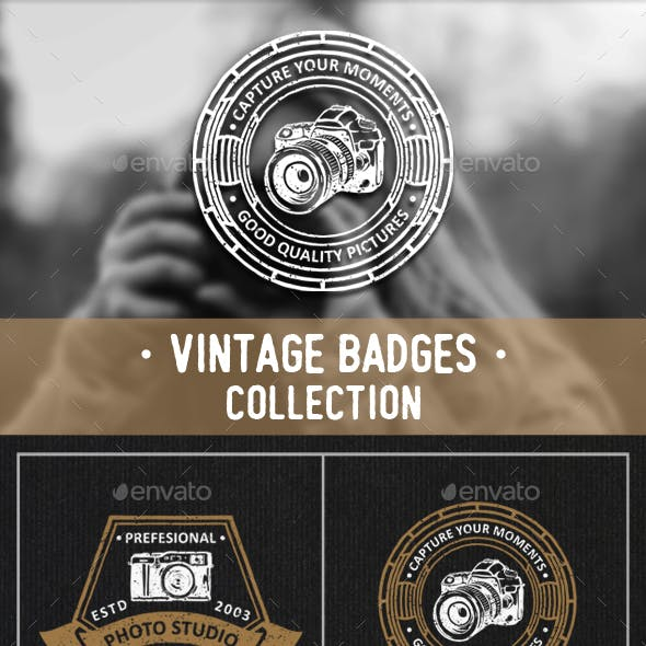Photography Badges and Logos Set