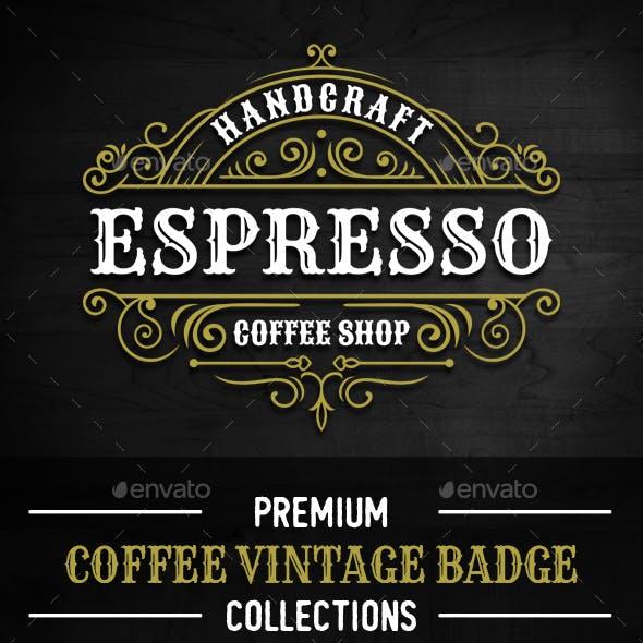 8 Elegance Coffee Badges and Logos