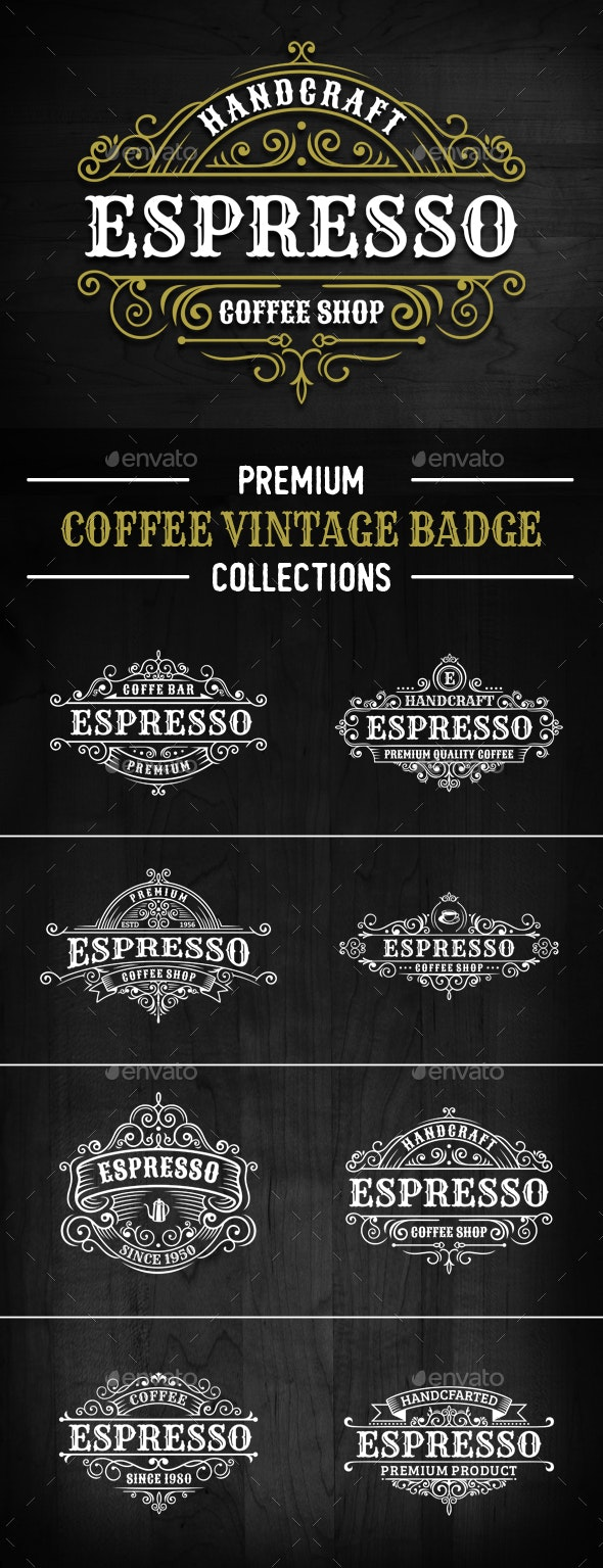 8 Elegance Coffee Badges and Logos - Badges & Stickers Web Elements