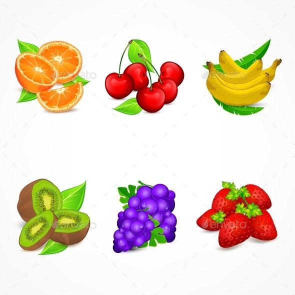 Fruit Set. Vector Illustration. - Vectors