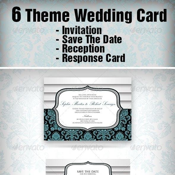 6 Theme Wedding Card