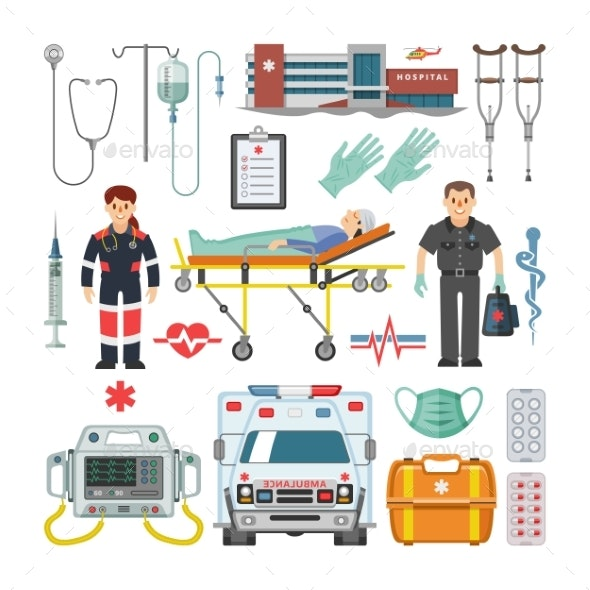 Ambulance Vector - Health/Medicine Conceptual