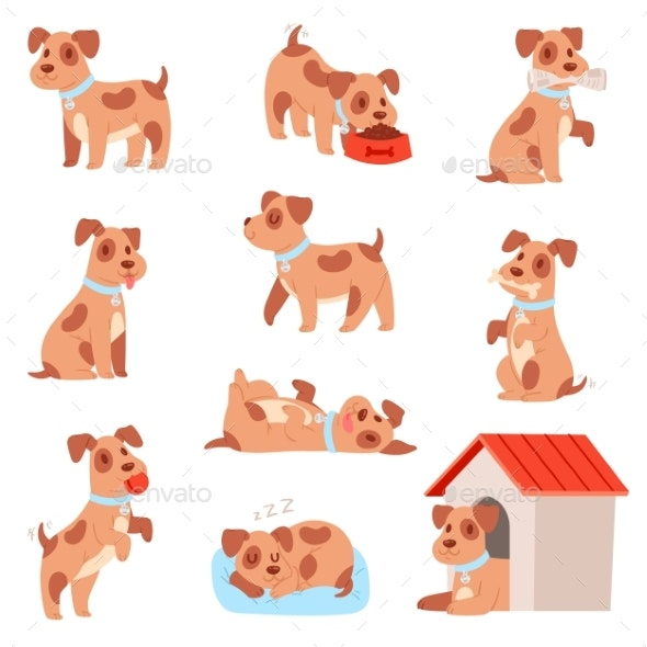 Dog Vector Little Doggie Puppy Animal Character - Animals Characters