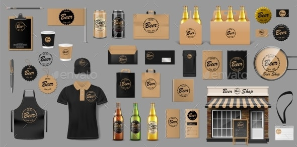 Corporate Branding Identity Template Design for - Food Objects