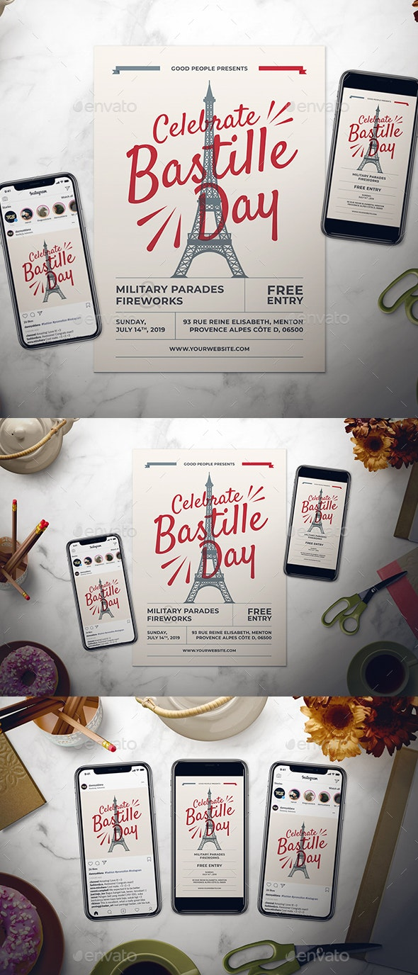 Bastille Day Flyer Set - Holidays Events