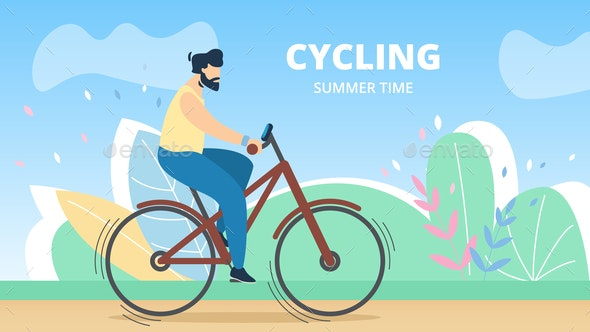 Sports Poster Cycling Summer Time - Sports/Activity Conceptual