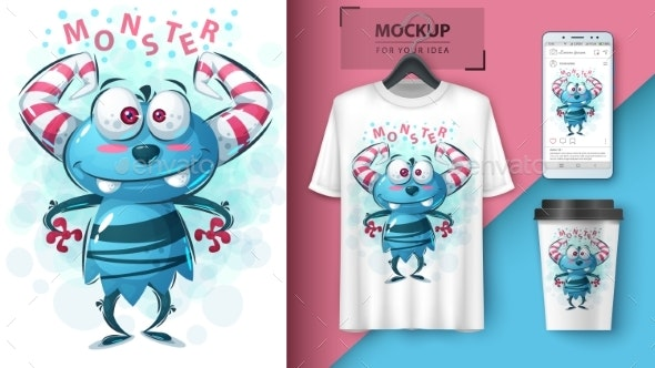 Monster - Idea for Print T-Shirt - Monsters Characters