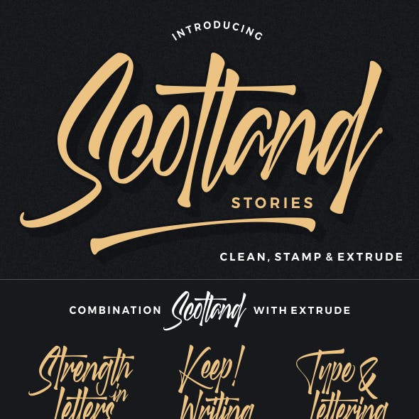 Scotland stories font