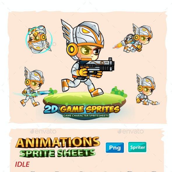 Eagle Warrrior 2D Game Sprites