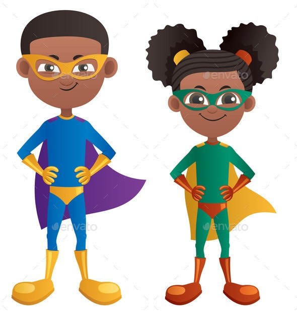 Super Kids - People Characters