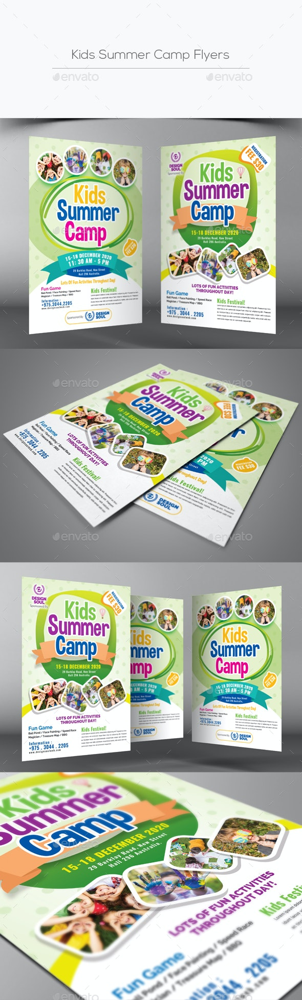 Kids Summer Camp Flyers - Corporate Flyers