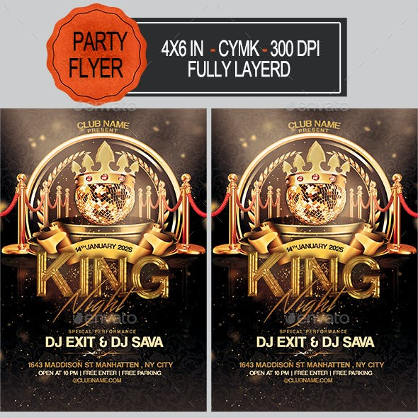 King Night Party Flyer