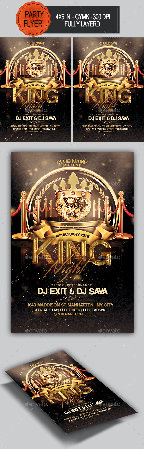 King Night Party Flyer - Clubs & Parties Events