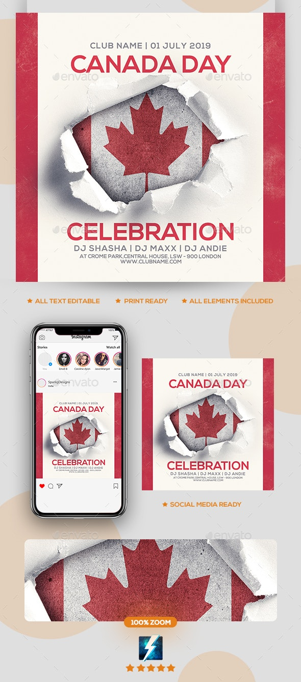 Canada Day Party Flyer - Clubs & Parties Events