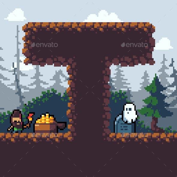 Pixel art Graveyard Platformer Pack