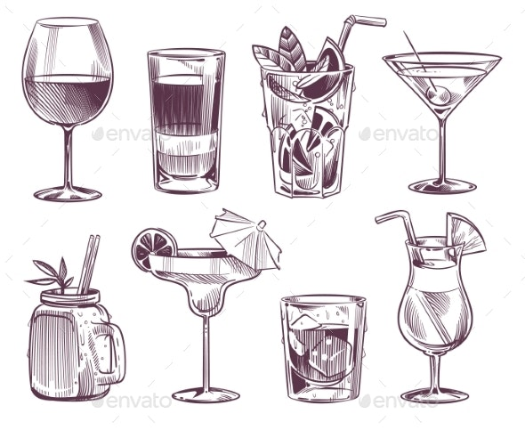 Sketch Cocktails - Food Objects