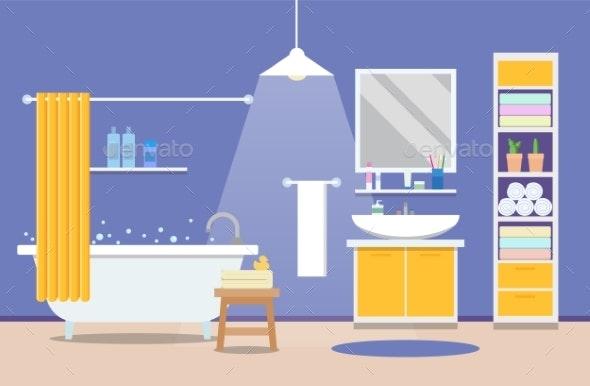 Bathroom Modern Interior - Buildings Objects