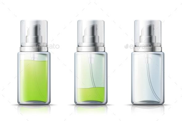 Vector Realistic Spray Bottle - Health/Medicine Conceptual