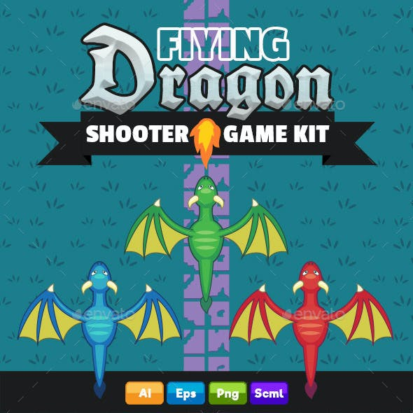 Flying Dragon - Complete Shooter Game Kit