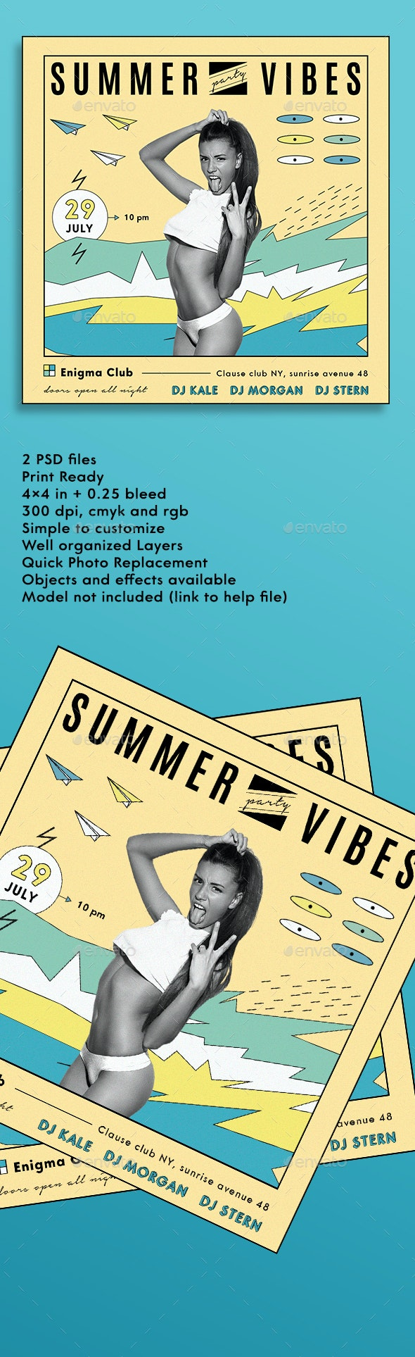 Summer Vibes - Events Flyers