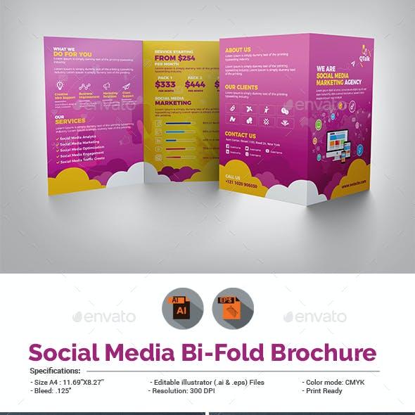 Social Media Marketing Bifold Brochure