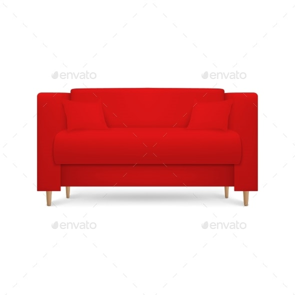 Vector Realistic Render Red Leather Luxury - Man-made Objects Objects