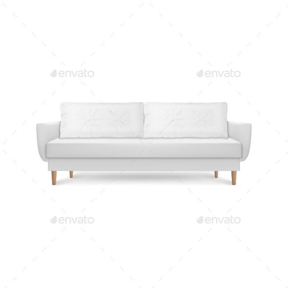 Vector Realistic Render White Leather Luxury - Man-made Objects Objects