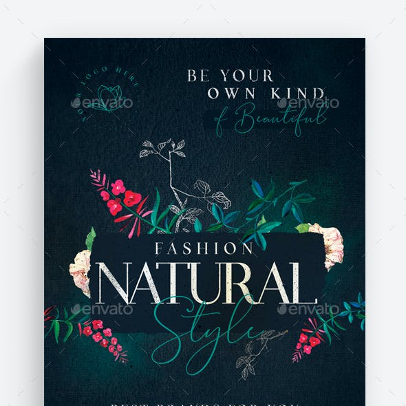 Fashion Natural Style Flyer Template