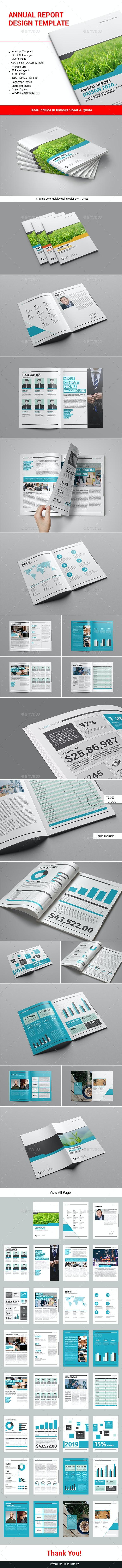 Annual Report Design Template - Informational Brochures