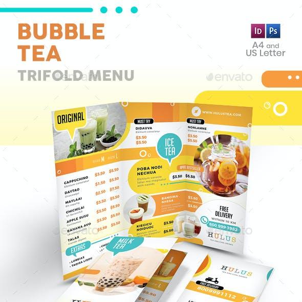 Bubble Tea Trifold Menu 5