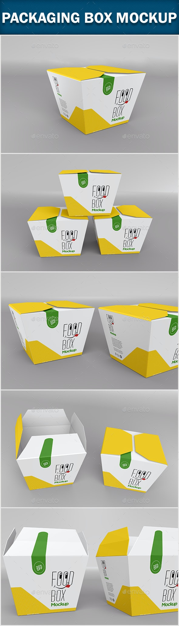 Packaging Box Mock-up - Food and Drink Packaging