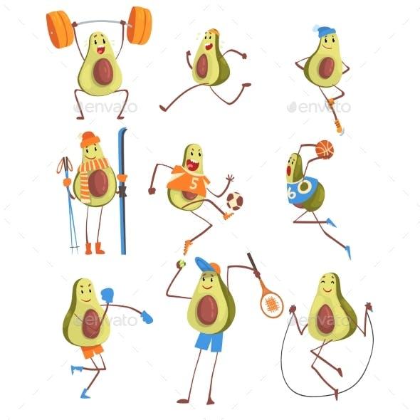 Avocado Cartoon
