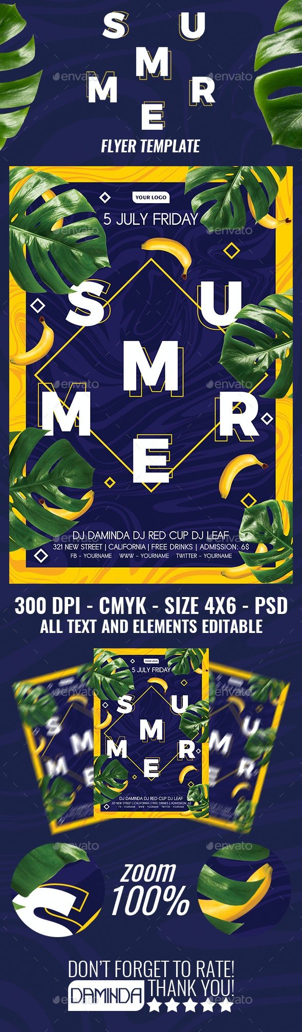Summer Flyer Template 2019 2 - Clubs & Parties Events