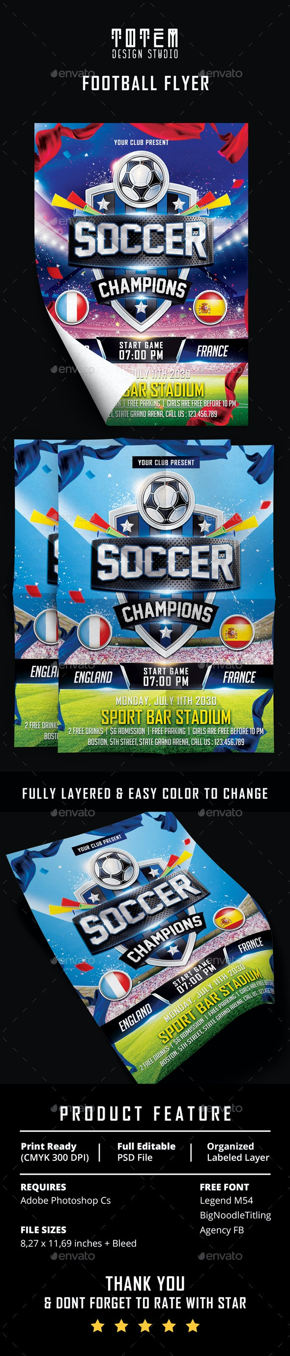 Soccer Champions Flyer - Sports Events