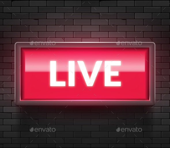 Live Light Broadcast Sign - Miscellaneous Vectors