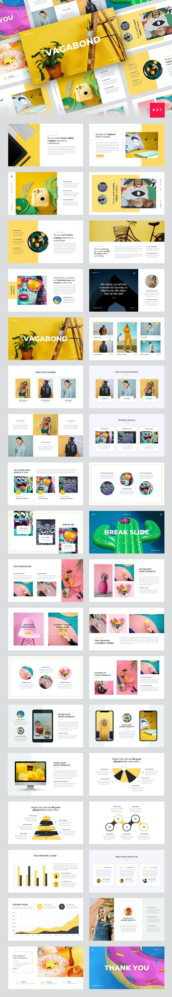 Vagabond - Creative & Business PowerPoint Template - Creative PowerPoint Templates