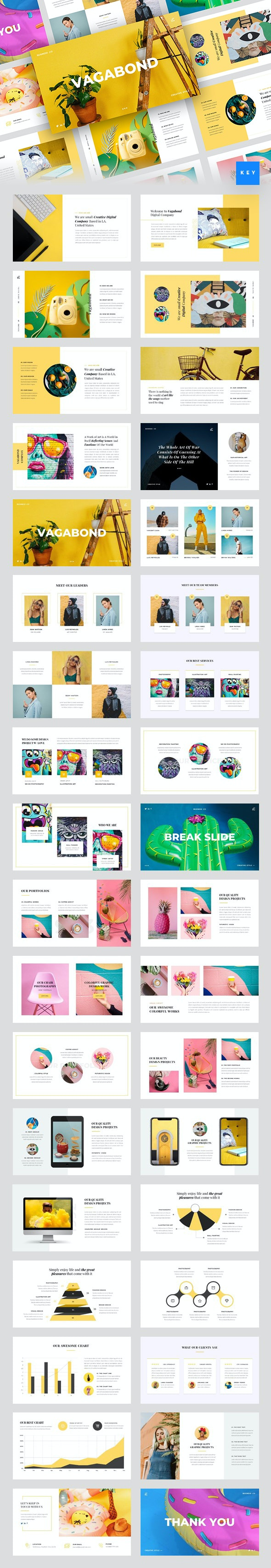 Vagabond - Creative & Business Keynote Template - Creative PowerPoint Templates