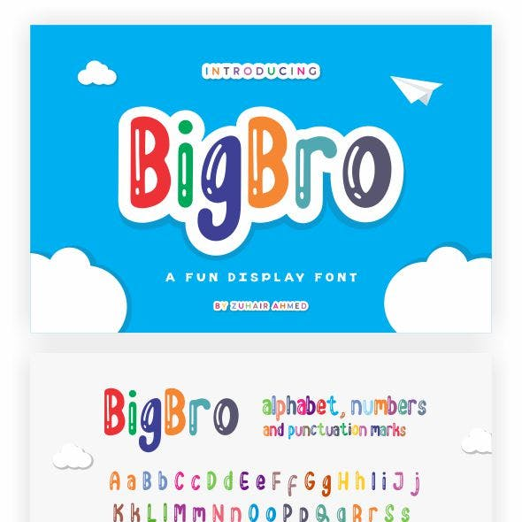 BigBro - Fun Display Font