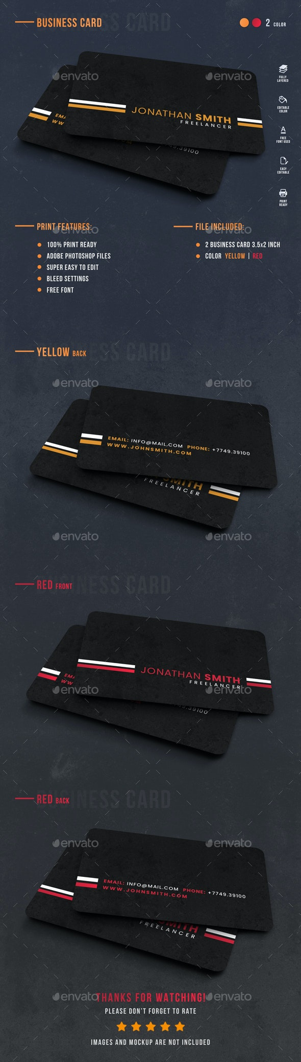 Freelancer Personal Card - Corporate Business Cards