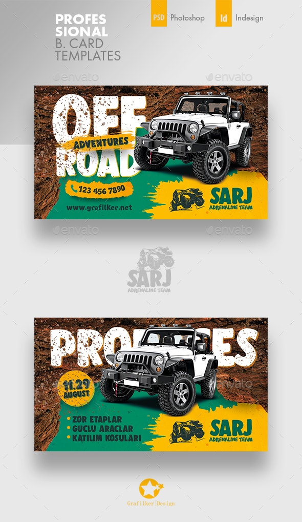 Off-Road Adventure Business Card Templates - Corporate Business Cards
