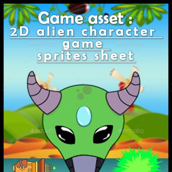 Game asset : 2D Alien Character