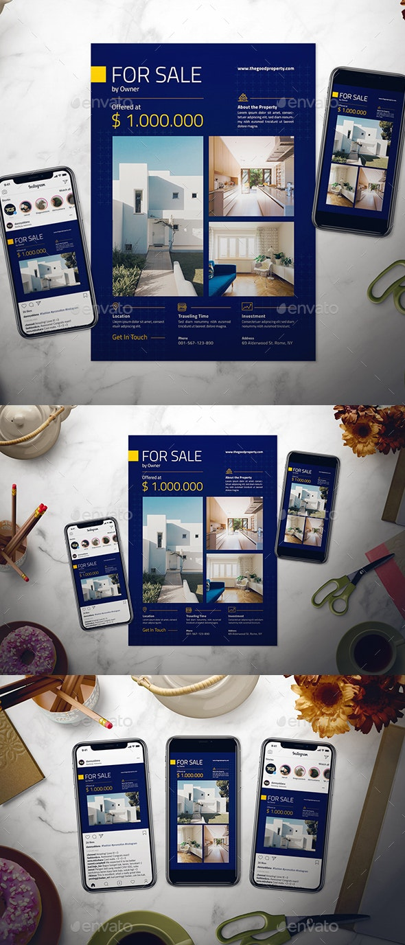 Real Estate Flyer Set - Flyers Print Templates