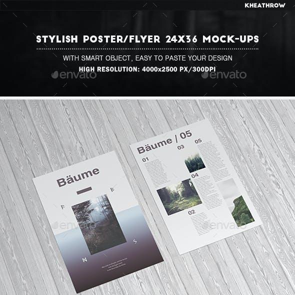 Stylish Poster / Flyer 24x36 Mock-Ups