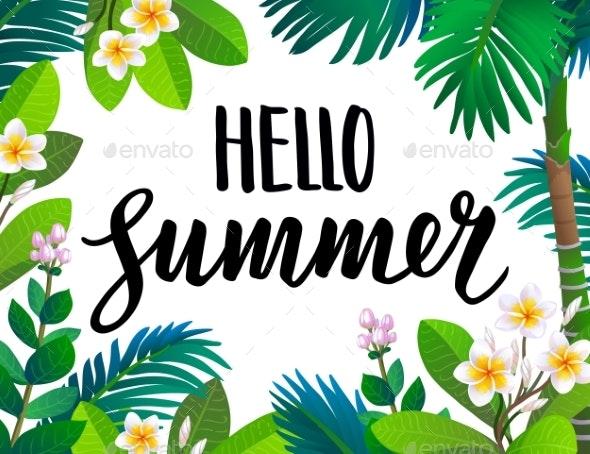 Summer Banner Template - Flowers & Plants Nature