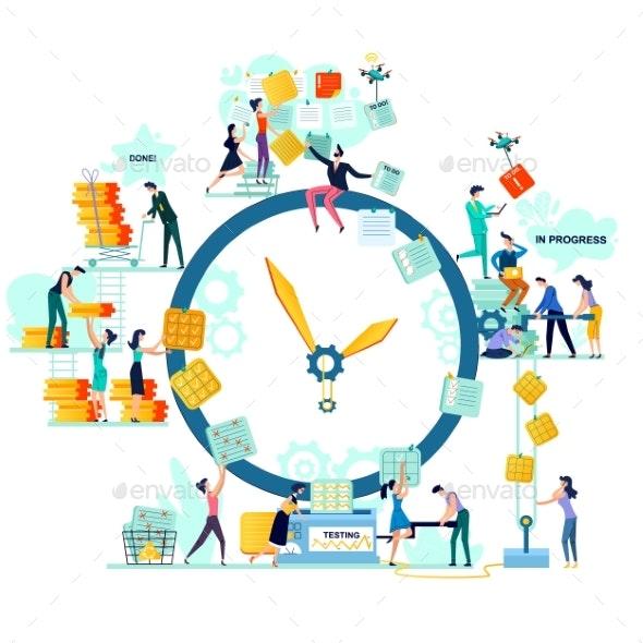 Deadline Time Management Business Concept Vector - Concepts Business