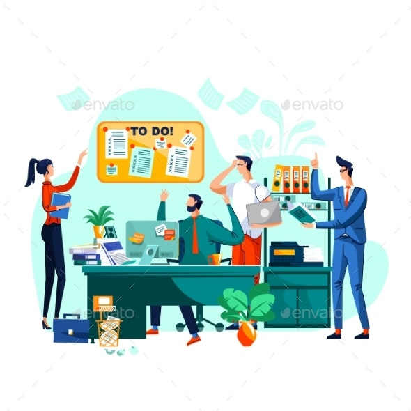 Deadline Teamwork and Brainstorm Business Concept - Concepts Business