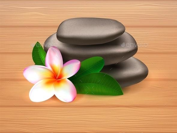 Spa Stones - Flowers & Plants Nature