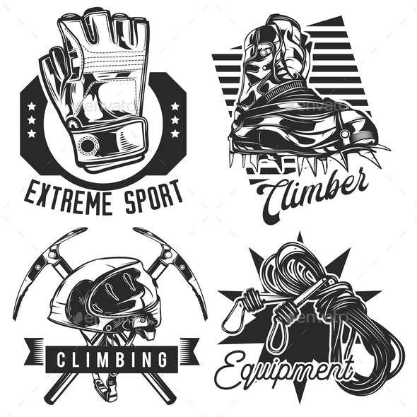 Set of Hiking Emblems - Sports/Activity Conceptual