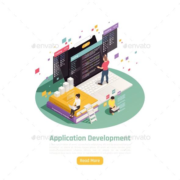 App Construction Development Background - Computers Technology